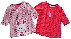 Gelati Dievčenská súprava 2 ks tričiek s králikom - farebná, 68 cm