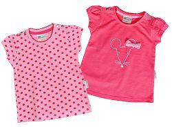 Gelati Dievčenská súprava  tričiek s myškou, 2 ks, 74 cm