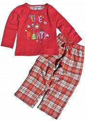 Gelati Dievčenské pyžamo Party - červené, 116 cm