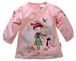 Gelati Dievčenské tričko s dievčatkom - ružové, 74 cm