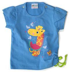 Gelati Dievčenské tričko s obrázkom - modré, 80 cm