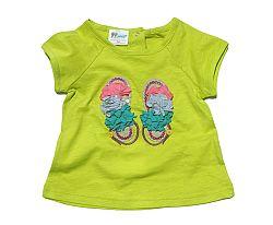Gelati Dievčenské tričko - svetlo zelené, 80 cm