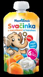 Hamánek Ovocná dojčenská výživa desiata s marhuľami a tvarohom 2x120g