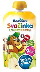 Hamánek SVAČINKA 100% ovocia s hruškami a banánmi 2x120g