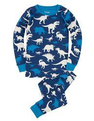 Hatley Chlapčenské pyžamo s dinosaurami - modré, 10 let