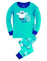 Hatley Chlapčenské pyžamo s príšerkou na lyžiach - modré, 4 roky