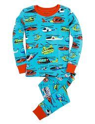 Hatley Chlapčenské pyžamo s vrtuľníkmi - farebné, 7 let