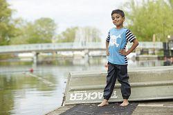 Hatley Detské nohavice do dažďa - tmavo modré, 128 cm