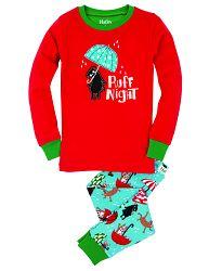 Hatley Detské pyžamo Ruff Night - červeno-modré, 4 roky