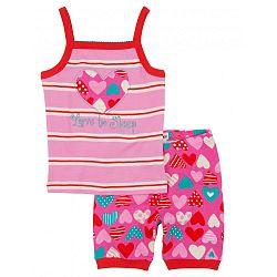Hatley Dievčenské letné pyžamo so srdiečkami - ružové
