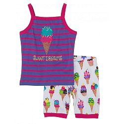 Hatley Dievčenské letné pyžamo so zmrzlinami - farebné, 10 let