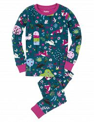 Hatley Dievčenské pyžamo s lesnou zverou - farebné, 7 let