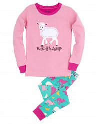 Hatley Dievčenské pyžamo s ovečkou - farebné, 12 let