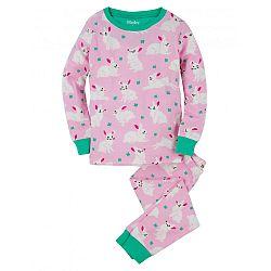Hatley Dievčenské pyžamo s zajačikov - ružové, 10 let