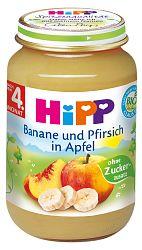 HiPP BIO Jablká s banánmi a broskyňami 6x190g - NOVINKA