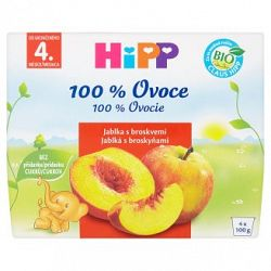 HiPP BIO Jablká s broskyňami 4x100g