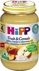 HiPP BIO Jablká s broskýňou a celozrnnou ryžou 6x190g