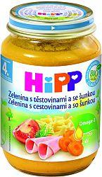 HiPP BIO Zelenina s cestovinami a so šunkou 6x190g