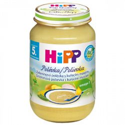 HiPP BIO Zeleninová polievka s kuracím mäsom 6x190g