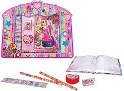 HM Studio Papiernictvo Súprava (denník so zámkom, pravítko, guma, strúhadlo, 2 ceruzky)