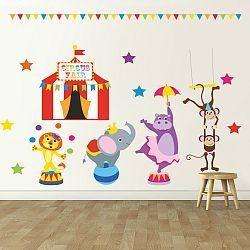 Housedecor Samolepka na stenu cirkusové vystúpenie