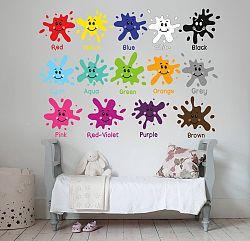 Housedecor Samolepka na stenu Farbičky 70x50 cm