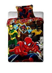 Jerry Fabrics Detské obojstranné obliečky Spiderman, 140x200 cm / 70x90 cm - farebné