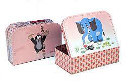 Kazeto Kufor Krtko a slon, šitý, 30 x 21 x 9,5 cm