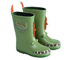 Kidsensation Chlapčenské dinosaurie čižmy - zelené, EUR 22