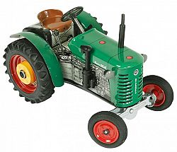 KOVAP Traktor Zetor 25A zelený na kľúčik kov 15 cm 1:25