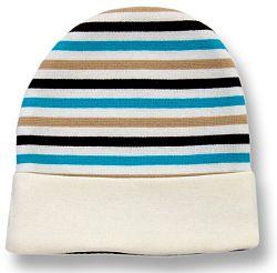 Lafel Chlapčenská prúžkovaná čiapka Sova - farebná, 68 cm