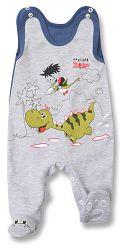Lafel Chlapčenské dupačky Dino - šedé, 62 cm