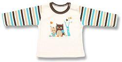 Lafel Chlapčenské tričko Sova - béžové, 56 cm