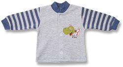 Lafel Chlapčenský kabátik Dino - šedo-modrý, 56 cm