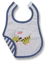 Lafel Chlapčenský podbradník Dino - sivý, 1-3 roky