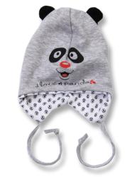 Lafel Detská čiapka Panda - šedá, 74 cm