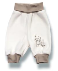 Lafel Detské tepláčky Macko - biele, 56 cm