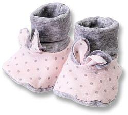 Lafel Dievčenské bodkované ponožky / capáčky Cat - ružové, EUR 21