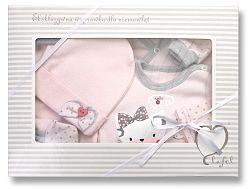 Lafel Dievčenské dojčenský set Cat - ružový, 68 cm