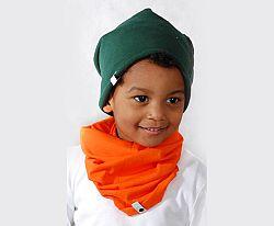 Lamama Detská bavlnená čiapka - tmavo zelená