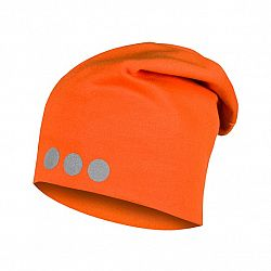 Lamama Detská čiapka s reflexnou potlačou - oranžová, 46-48 cm