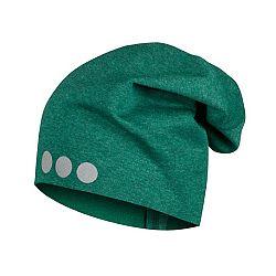 Lamama Detská čiapka s reflexnou potlačou - tmavo zelená, 52-54 cm