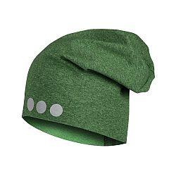 Lamama Detská čiapka s reflexnou potlačou - žíhaná zelená, 46-48 cm