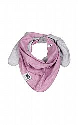 Lamama Dievčenské obojstranný šatka - žíhané fialovo - šedý