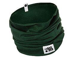 Lamama Komínový bavlnený šál / šatka- tmavo zelený