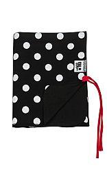 Lamama Obojstranná deka do kočíka / zavinovačky, čierna s bodkami