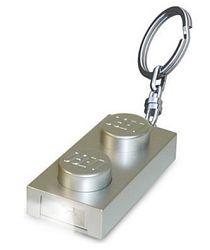 LEGO® LED Lite Detský svietiace prívesok na kľúče Kostička, 4,5 cm