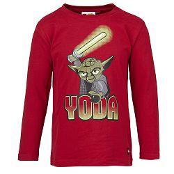 LEGO® wear Chlapčenské tričko Yoda TIMMY 654 - tmavo červené, 152 cm