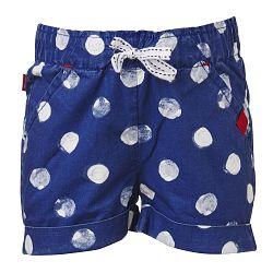 LEGO® wear Dievčenské bodkované šortky Pyrene 306 - modré, 80 cm