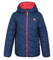 LOAP Chlapčenská zimná bunda Ulrich - tmavo modrá, 122-128 cm